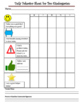 Daily Behavior Chart for Parent Communication