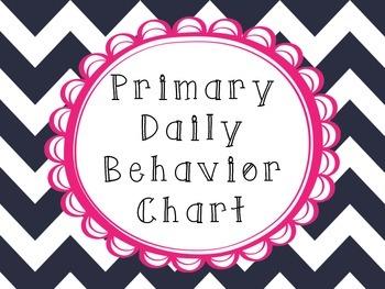 Daily Behavior Checklist for Primary Grades