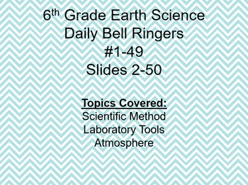 Daily Bell Ringers/Daily Science