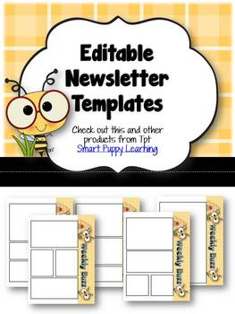 Newsletter Templates - Daily Buzz/Bee Themed
