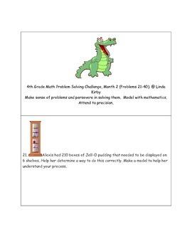 Math-4th Grade-Month 02: Challenge Problem Solving (Questi