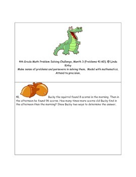 Math-4th Grade-Month 03: Challenge Problem Solving (Questi