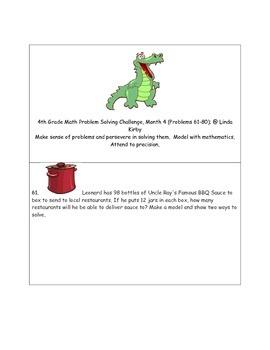 Math-4th Grade-Month 04: Challenge Problem Solving (Questi