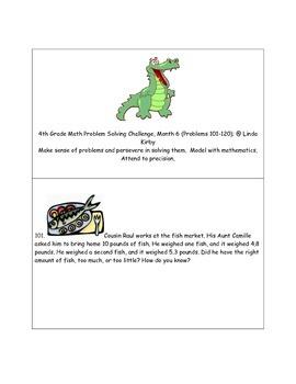 Math-4th Grade-Month 06: Challenge Problem Solving (Questi