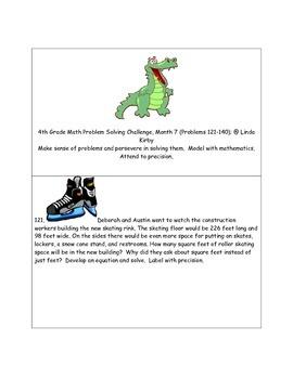 Math-4th Grade-Month 07: Challenge Problem Solvng (Questio