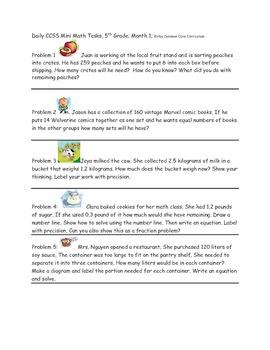 Math-5th Grade-Month 01: Challenge Problem Solving (Questi
