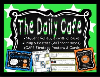 Daily Cafe Posters, Strategies, Schedule & More {Star-Themed}