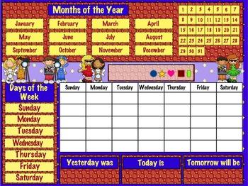 Daily Calendar (Hollywood Theme)