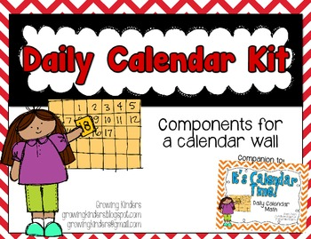 Daily Calendar Kit {Red and Black}