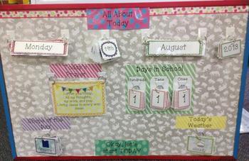 Daily Calender Board ECE date prayer shape weather days of school