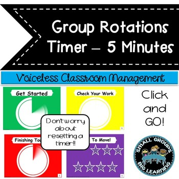 Daily Centers  Classroom Management Timer 5 Minutes +1 Min