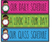 Daily Class Schedule Cards-{Editable}