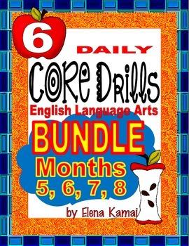 Daily Common Core Drills BUNDLE~ Months 5, 6, 7 & 8 {Gr. 6