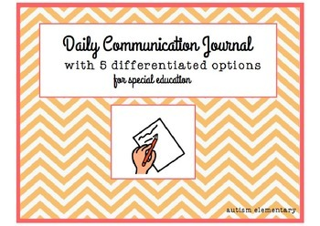 Daily Communication Journal/ Behavior Reflection for Speci