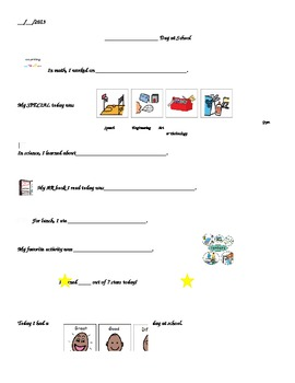 Daily Communication Sheet