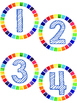 Daily Counting Circles (Days in School)