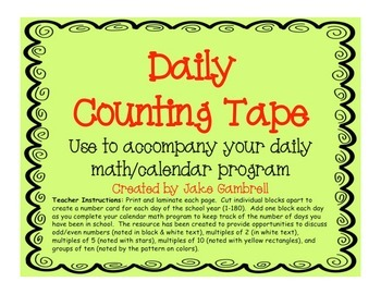 Daily Counting Tape