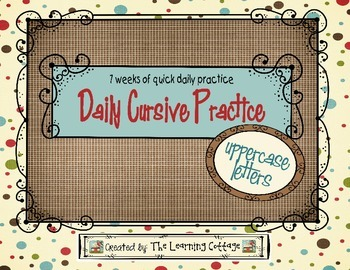 Daily Cursive Practice-Uppercase Letters