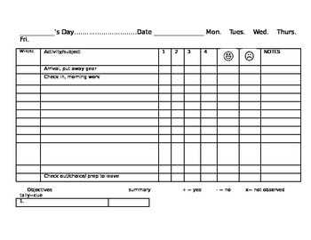 Daily Data Form