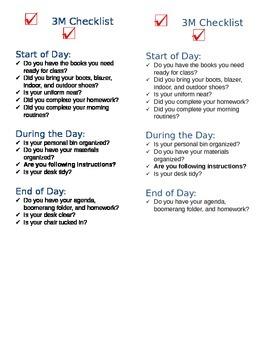 Daily Desk Checklist - Editable
