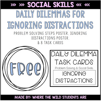 Daily Dilemma Task Cards - Social Problem Solving for IGNO