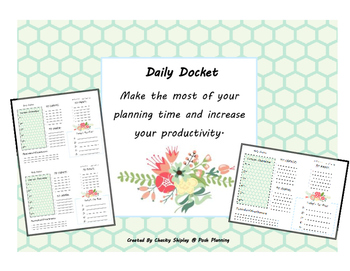 Daily Docket- Floral