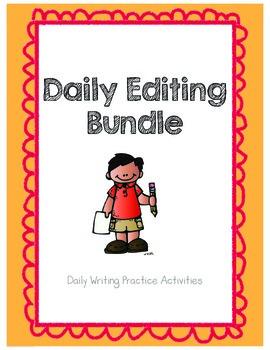 Daily Editing Bundle (Grammar / Language Arts Warm-ups)