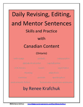 Daily Editing, Revising, and Mentor Sentences (ON)