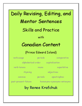 Daily Editing, Revising, and Mentor Sentences (PE)