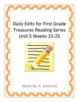 Daily Edits Unit 5 Treasures Reading Series