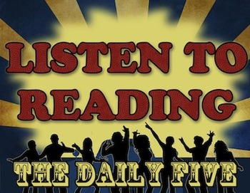 Daily Five: 5 Center Signs for Middle School Students (Blu