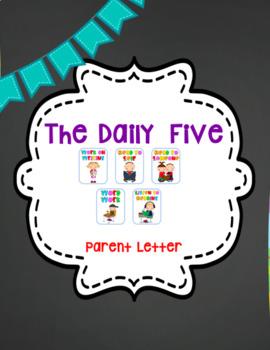 Daily Five Parent Letter