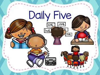 Daily Five Posters and Cards for Pocket Chart
