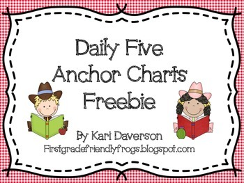 Daily Five Western Anchor Charts