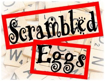 Daily Five Word Work Scrambled Eggs Bin Label