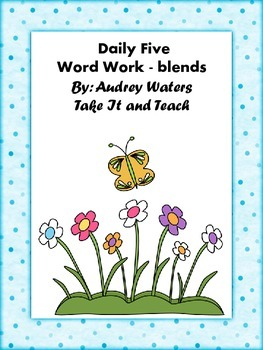 Daily Five Word Work - Using Blends In Words