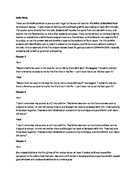 Daily Fix It Grammar, Spelling Quote Analysis for The Witc