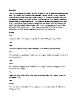 Daily Fix-It Grammar, Spelling, Quote Analysis for Twelve