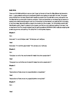 Daily Fix It Grammar, Spelling and Quote Analysis for City