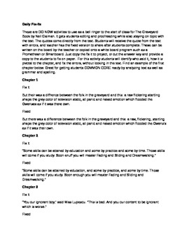 Daily Fix It Grammar, Spelling and Quote Analysis for The