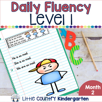 Daily Fluency Notebook Strips & Passages Level 1 Month 2
