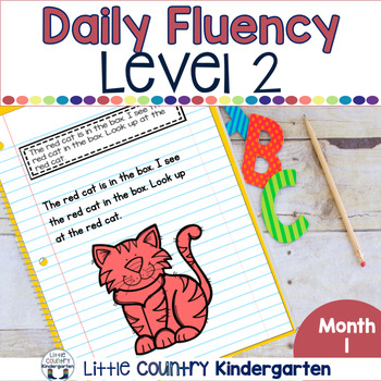 Daily Fluency Notebook Strips & Passages Level 2 Month 1