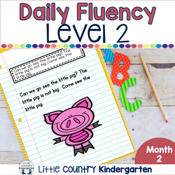 Daily Fluency Notebook Strips & Passages Level 2 Month 2
