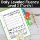 Daily Fluency Notebook Strips & Passages Level 3 Month 1