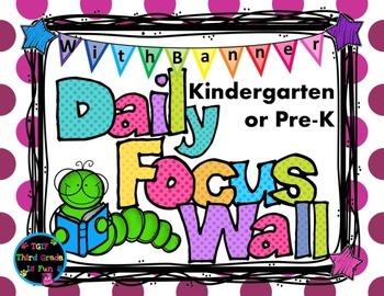Daily Focus Headers/Banners for Kindergarten or Pre-K Purp