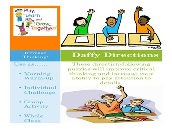 Daily Following Direction Activities: Daffy Directions Act