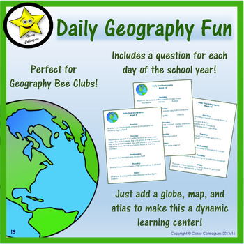 Geography Daily Activities for the Whole School Year