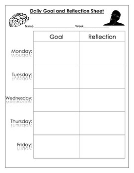 Daily Goal and Reflection Sheet
