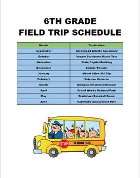 Daily Google Drive: Week 4 Field Trip Schedule