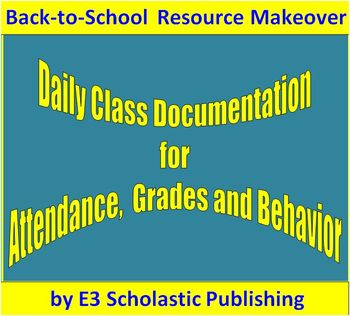 Daily Grades and Behavior Management Spreadsheet - Back-to